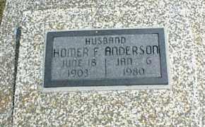 ANDERSON, HOMER F. - Nowata County, Oklahoma   HOMER F. ANDERSON - Oklahoma Gravestone Photos