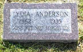 ANDERSON, LYDIA - Nowata County, Oklahoma | LYDIA ANDERSON - Oklahoma Gravestone Photos