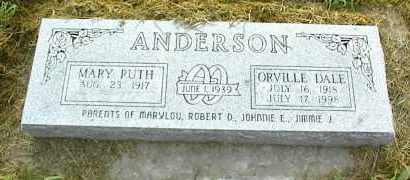 ANDERSON, ORVILLE DALE - Nowata County, Oklahoma | ORVILLE DALE ANDERSON - Oklahoma Gravestone Photos