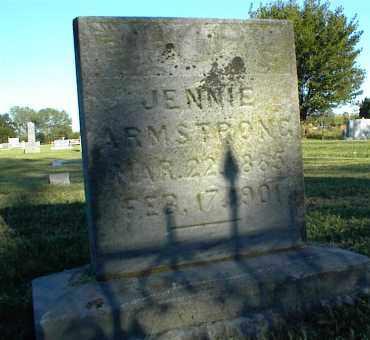 ARMSTRONG, JENNIE - Nowata County, Oklahoma | JENNIE ARMSTRONG - Oklahoma Gravestone Photos