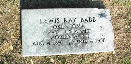 BABB (VETERAN WWI), LEWIS RAY - Nowata County, Oklahoma   LEWIS RAY BABB (VETERAN WWI) - Oklahoma Gravestone Photos