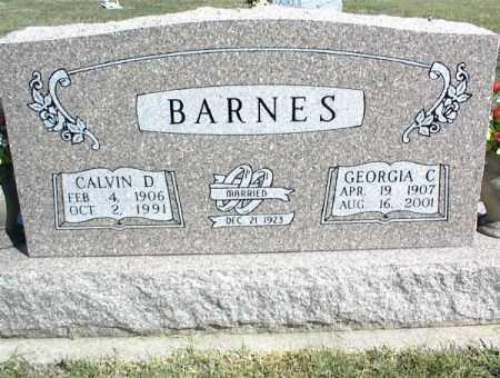 BARNES, CALVIN D. - Nowata County, Oklahoma | CALVIN D. BARNES - Oklahoma Gravestone Photos
