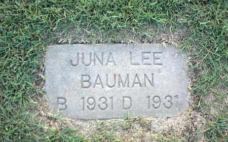 BAUMAN, JUNA LEE - Nowata County, Oklahoma | JUNA LEE BAUMAN - Oklahoma Gravestone Photos