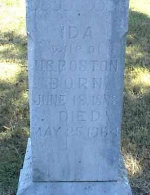 BOSTON, IDA - Nowata County, Oklahoma | IDA BOSTON - Oklahoma Gravestone Photos