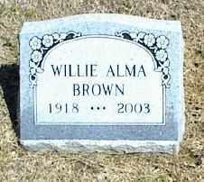 BROWN, WILLIE ALMA - Nowata County, Oklahoma   WILLIE ALMA BROWN - Oklahoma Gravestone Photos