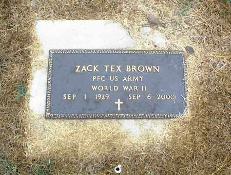 BROWN (VETERAN WWII), ZACK TEX - Nowata County, Oklahoma | ZACK TEX BROWN (VETERAN WWII) - Oklahoma Gravestone Photos
