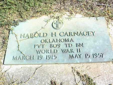 CARNAGEY (VETERAN WWII), HAROLD H. - Nowata County, Oklahoma | HAROLD H. CARNAGEY (VETERAN WWII) - Oklahoma Gravestone Photos