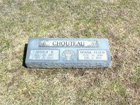 CHOUTEAU, ARTHUR D. - Nowata County, Oklahoma   ARTHUR D. CHOUTEAU - Oklahoma Gravestone Photos