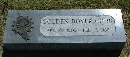 COOK, GOLDEN BOYER - Nowata County, Oklahoma | GOLDEN BOYER COOK - Oklahoma Gravestone Photos