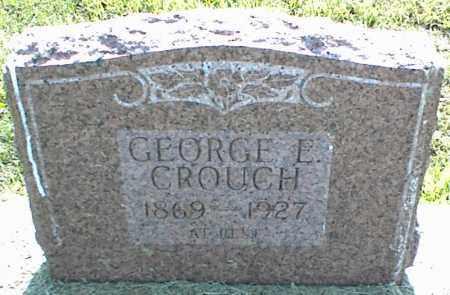 CROUCH, GEORGE E. - Nowata County, Oklahoma | GEORGE E. CROUCH - Oklahoma Gravestone Photos