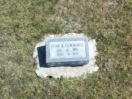 CUMMINGS, CLAD K. - Nowata County, Oklahoma | CLAD K. CUMMINGS - Oklahoma Gravestone Photos