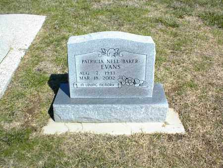 BAKER EVANS, PATRICIA NELL - Nowata County, Oklahoma | PATRICIA NELL BAKER EVANS - Oklahoma Gravestone Photos