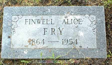 FRY, FINWELL ALICE - Nowata County, Oklahoma | FINWELL ALICE FRY - Oklahoma Gravestone Photos