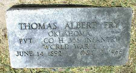 FRY, THOMAS ALBERT - Nowata County, Oklahoma | THOMAS ALBERT FRY - Oklahoma Gravestone Photos