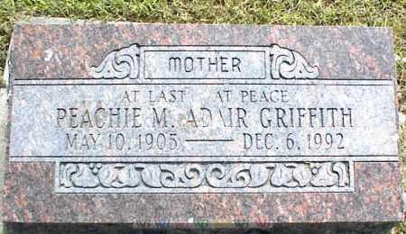 ADAIR GRIFFITH, PEACHIE M. - Nowata County, Oklahoma | PEACHIE M. ADAIR GRIFFITH - Oklahoma Gravestone Photos
