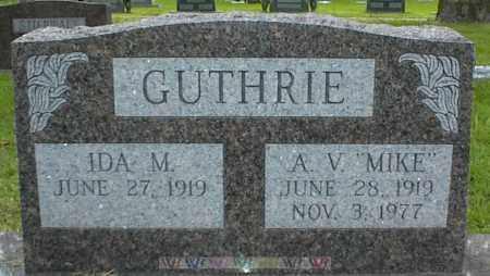 GUTHRIE, A. V. - Nowata County, Oklahoma | A. V. GUTHRIE - Oklahoma Gravestone Photos