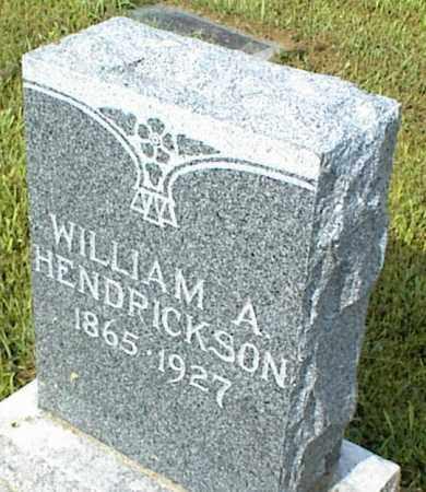 HENDRICKSON, WILLIAM A. - Nowata County, Oklahoma | WILLIAM A. HENDRICKSON - Oklahoma Gravestone Photos