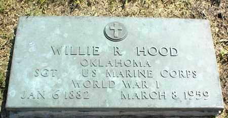 HOOD, WILLIE R. - Nowata County, Oklahoma | WILLIE R. HOOD - Oklahoma Gravestone Photos