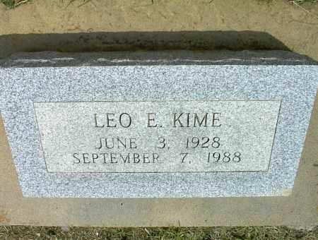 KIME, LEO E. - Nowata County, Oklahoma   LEO E. KIME - Oklahoma Gravestone Photos