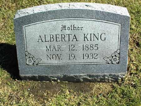 KING, ALBERTA - Nowata County, Oklahoma   ALBERTA KING - Oklahoma Gravestone Photos