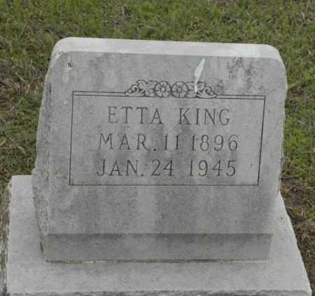 KING, ETTA - Nowata County, Oklahoma | ETTA KING - Oklahoma Gravestone Photos
