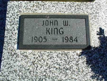 KING, JOHN W. - Nowata County, Oklahoma   JOHN W. KING - Oklahoma Gravestone Photos