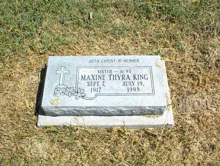 KING, MAXINE THYRA - Nowata County, Oklahoma | MAXINE THYRA KING - Oklahoma Gravestone Photos