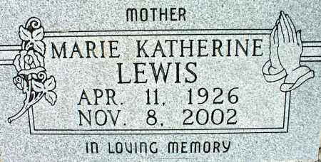 LEWIS, MARIE KATHERINE - Nowata County, Oklahoma   MARIE KATHERINE LEWIS - Oklahoma Gravestone Photos