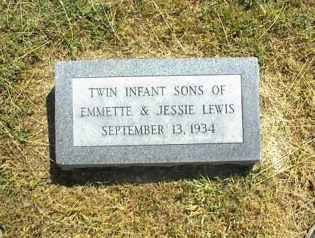 LEWIS, TWIN INFANTS SONS - Nowata County, Oklahoma | TWIN INFANTS SONS LEWIS - Oklahoma Gravestone Photos
