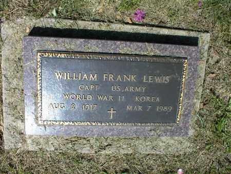 LEWIS, WILLIAM FRANK - Nowata County, Oklahoma | WILLIAM FRANK LEWIS - Oklahoma Gravestone Photos