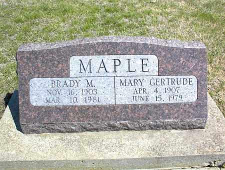 MAPLE, BRADY M. - Nowata County, Oklahoma | BRADY M. MAPLE - Oklahoma Gravestone Photos