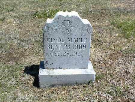 MAPLE, CLYDE - Nowata County, Oklahoma | CLYDE MAPLE - Oklahoma Gravestone Photos