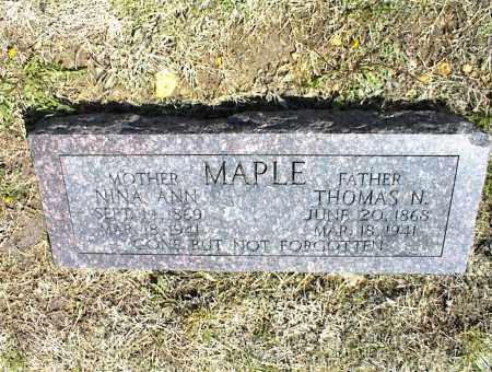 MAPLE, THOMAS N. - Nowata County, Oklahoma | THOMAS N. MAPLE - Oklahoma Gravestone Photos
