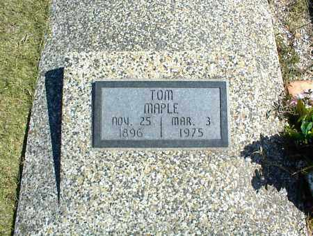 MAPLE, TOM - Nowata County, Oklahoma | TOM MAPLE - Oklahoma Gravestone Photos