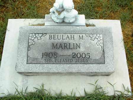 MARLIN, BEULAH M. - Nowata County, Oklahoma   BEULAH M. MARLIN - Oklahoma Gravestone Photos