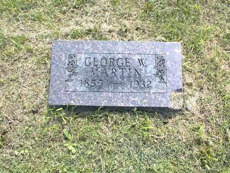 MARTIN, GEORGE W. - Nowata County, Oklahoma | GEORGE W. MARTIN - Oklahoma Gravestone Photos