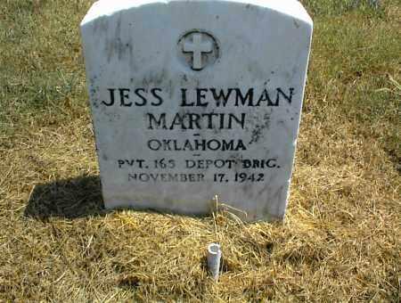 MARTIN, JESS LEWMAN - Nowata County, Oklahoma | JESS LEWMAN MARTIN - Oklahoma Gravestone Photos
