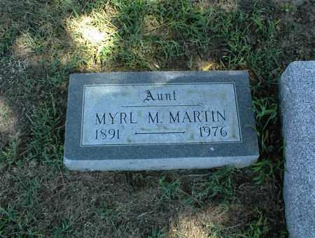 MARTIN, MYRL M. - Nowata County, Oklahoma | MYRL M. MARTIN - Oklahoma Gravestone Photos