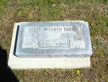PARRET, OLETA MILDRED - Nowata County, Oklahoma | OLETA MILDRED PARRET - Oklahoma Gravestone Photos