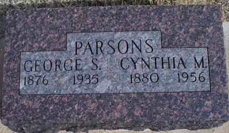 PARSONS, CYNTHIA M. - Nowata County, Oklahoma | CYNTHIA M. PARSONS - Oklahoma Gravestone Photos