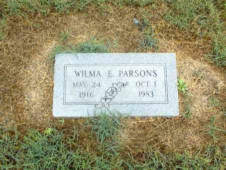 PARSONS, WILMA E. - Nowata County, Oklahoma | WILMA E. PARSONS - Oklahoma Gravestone Photos