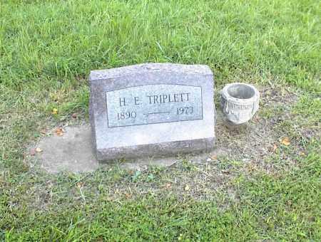 TRIPLETT, H. E. - Nowata County, Oklahoma | H. E. TRIPLETT - Oklahoma Gravestone Photos