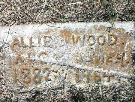 WOOD, ALLIE - Nowata County, Oklahoma | ALLIE WOOD - Oklahoma Gravestone Photos