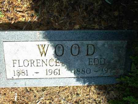 WOOD, FLORENCE - Nowata County, Oklahoma | FLORENCE WOOD - Oklahoma Gravestone Photos
