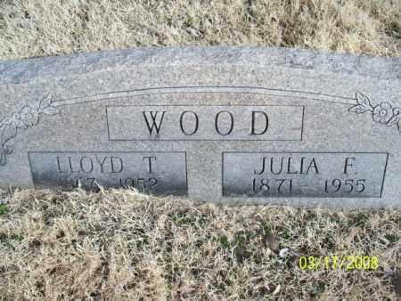 WOOD, JULIA F. - Nowata County, Oklahoma | JULIA F. WOOD - Oklahoma Gravestone Photos