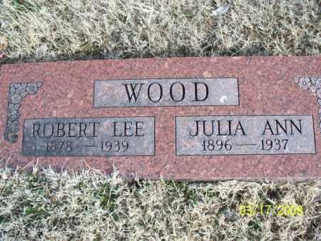 WOOD, ROBERT LEE - Nowata County, Oklahoma   ROBERT LEE WOOD - Oklahoma Gravestone Photos