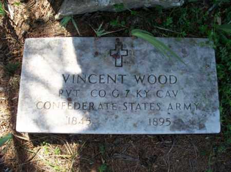 WOOD (VETERAN CSA), VINCENT - Nowata County, Oklahoma | VINCENT WOOD (VETERAN CSA) - Oklahoma Gravestone Photos