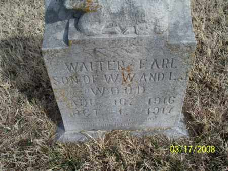 WOOD, WALTER EARL - Nowata County, Oklahoma | WALTER EARL WOOD - Oklahoma Gravestone Photos