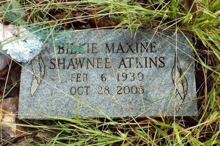 SHAWNEE ATKINS, BILLIE MAXINE - Ottawa County, Oklahoma | BILLIE MAXINE SHAWNEE ATKINS - Oklahoma Gravestone Photos