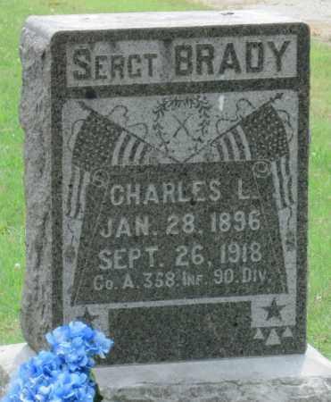 BRADY (VETERAN WWI), CHARLES L - Ottawa County, Oklahoma   CHARLES L BRADY (VETERAN WWI) - Oklahoma Gravestone Photos